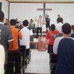 Saat ibadah syukur berlangsung di LP Kelas 1 Tangerang
