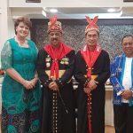 Rev Suzzete Hatingh bsm Walikota, Wakil Walikota & Sekretaris Kota Ambon @Upacara HUT ke 443 Kota Ambon