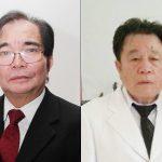Kiri-Kanan Sekum GPdI Pdt. John Lumenta. Kanan dan Ketua MD Maluku Utara Pdt. Marthen Tumimomor