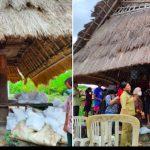 Berdoa dan berbagi kasih di desa Waisika Alor NTT