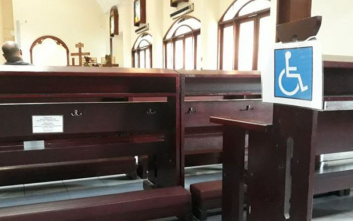 Ilustrasi gereja ramah disabilitas